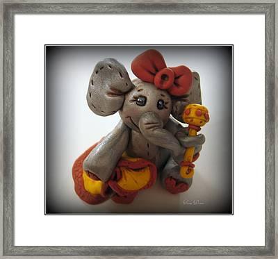 Baby Elephant Framed Print by Trina Prenzi