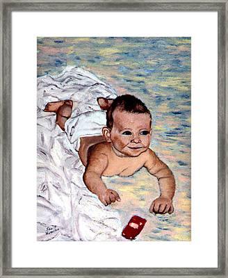 Baby In Heaven Framed Print by Stan Hamilton