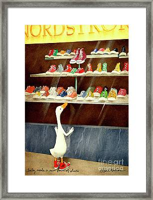 baby needs a new pair of shoes...PRINT Framed Print by Will Bullas