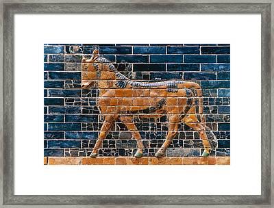 Babylon: Ishtar Gate 600 B.c Framed Print by Granger