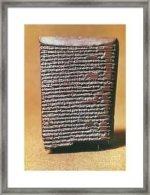 Babylonian Clay Tablet Framed Print