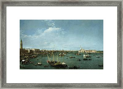 Bacino Di San Marco, Venice Framed Print by Canaletto