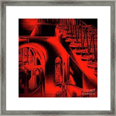 Red Back Up Framed Print by Mona Stut