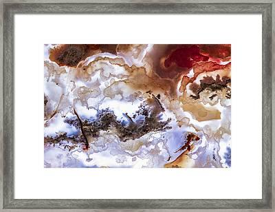 Backlit Agate Framed Print