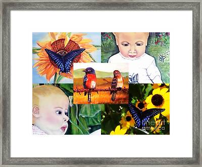 Backyard Summertime Garden Gifts  Framed Print