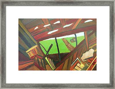 Backyard View Framed Print by Suzanne  Marie Leclair