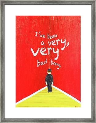 Bad Boy Greeting Card Framed Print
