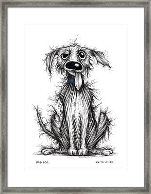 Bad Dog Framed Print by Keith Mills
