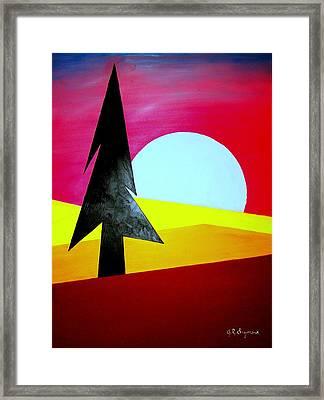 Big Bad Moon Rising Framed Print by J R Seymour