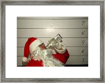 Bad Santa Framed Print by Michael Ledray