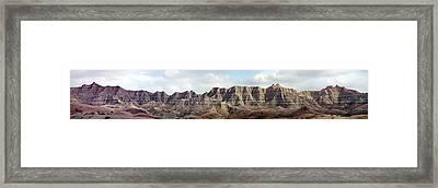 Badlands Of South Dakota Framed Print