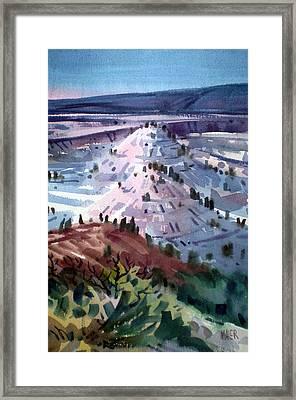 Badlands South Dakota Framed Print by Donald Maier