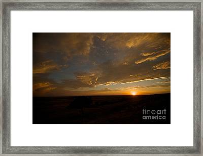 Badlands Sunset Framed Print