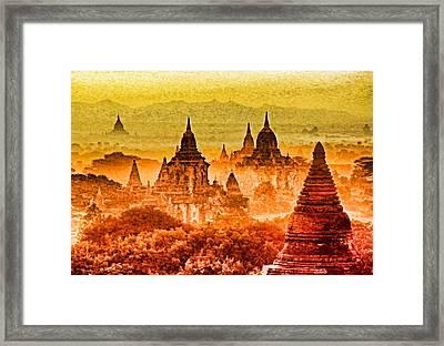 Bagan Pagodas Framed Print by Dennis Cox WorldViews