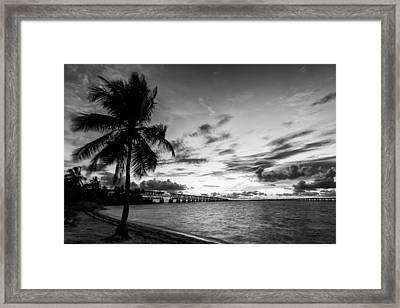 Bahia Honda State Park Sunset Framed Print