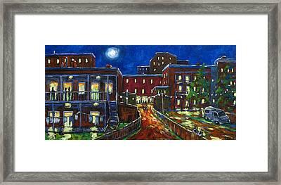 Balconville Framed Print by Richard T Pranke