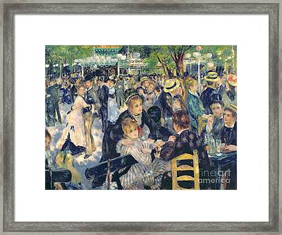 Ball At The Moulin De La Galette Framed Print by Pierre Auguste Renoir