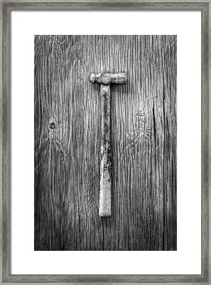 Ball Peen Hammer Framed Print by YoPedro