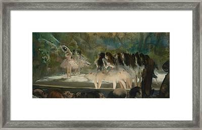 Ballet At The Paris Opera  Framed Print