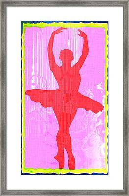 Ballet Dancer Framed Print by David G Paul