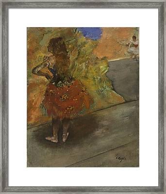 Ballet Dancer Framed Print by Edgar Degas