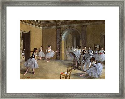 Ballet Hall Of The Opera In The Rue Peletier Framed Print