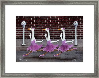 Ballet Parking... Framed Print by Will Bullas