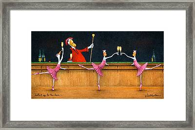 Ballet Up To The Barre... Framed Print