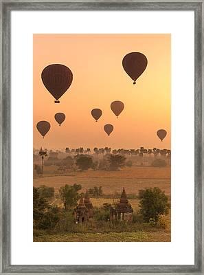 Balloons Sky Framed Print