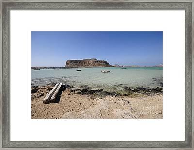 Balos Beach Framed Print