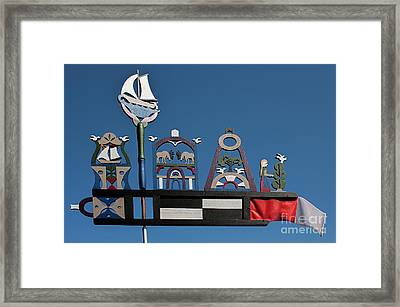 Baltic Windvane Framed Print by Christian Hallweger