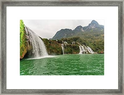 Ban Gioc Waterfall Framed Print