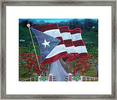 Bandera De Puerto Rico Framed Print
