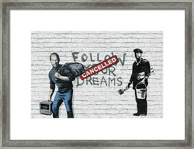 Banksy - The Tribute - Follow Your Dreams - Steve Jobs Framed Print