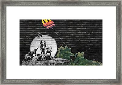 Banksy - The Tribute - New World Order Framed Print