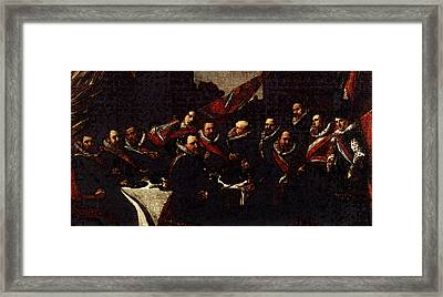 Banquet Of The Officers Of The St George Civic Guard  Framed Print