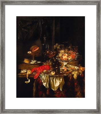 Banquet Still Life Framed Print