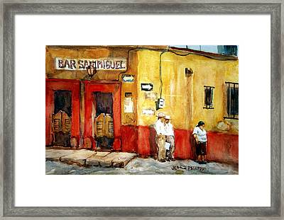 Bar San Miguel Framed Print by Jerald Peterson