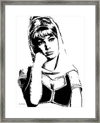 #1 Barbara Eden Portrait Framed Print by Alan Armstrong