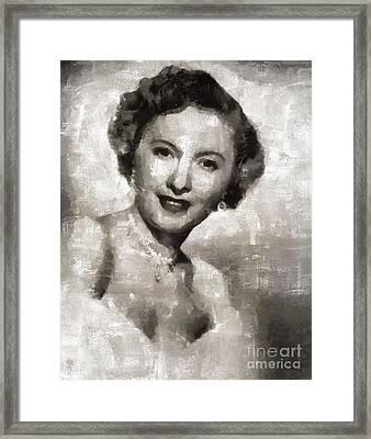 Barbara Stanwyck Hollywood Actress Framed Print