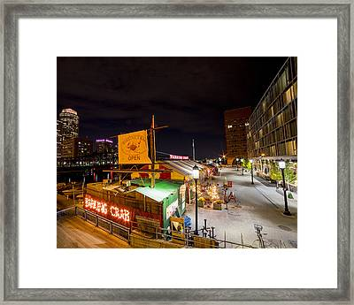 Barking Crab Boston Ma Framed Print by Toby McGuire
