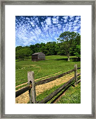 Barn At Hartwood Acres Framed Print