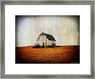 Barn On The Hill Framed Print by Julie Hamilton