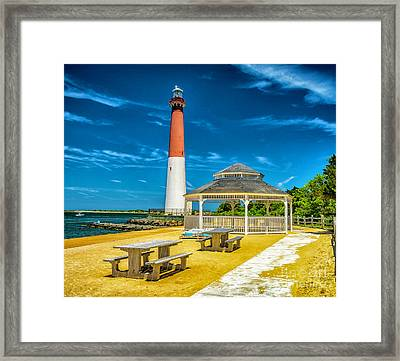 Framed Print featuring the photograph Barnegat Lighthouse Park by Nick Zelinsky