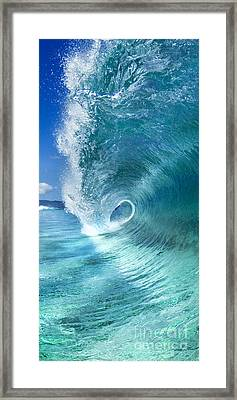 Barrel Swirl  -  Triptych  Part 2 Of 3 Framed Print by Sean Davey
