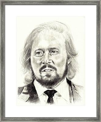 Barry Gibb Portrait Framed Print