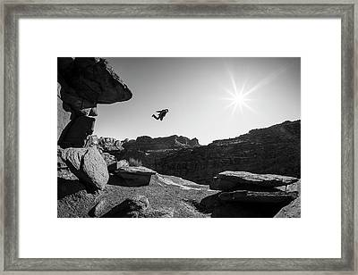 Base Jumper Framed Print