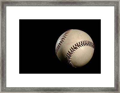 Baseball Ball Framed Print by Felix M Cobos