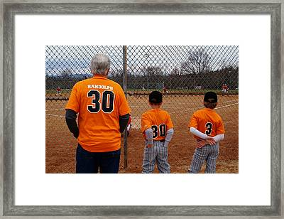 Baseball Generations Framed Print by Christal Randolph