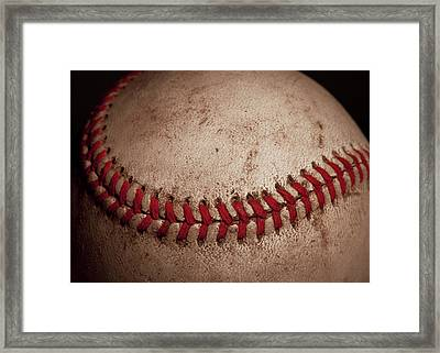 Baseball Seams Framed Print by David Patterson